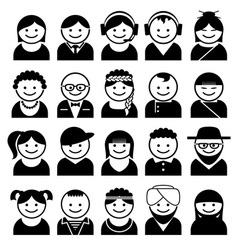 peoples avatar icons vector image vector image
