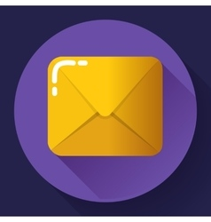 Small parcel package letter or mail flat icon vector image vector image