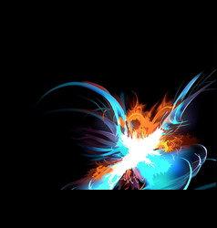 abstract colorful explosion vector image vector image