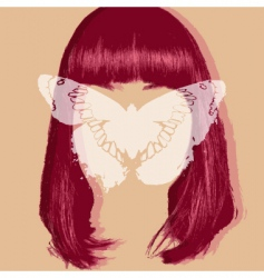 butterfly portrait vector image vector image