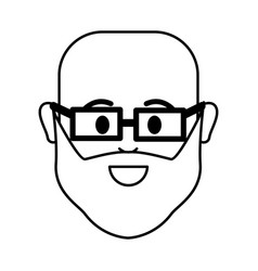 figure people happy face man with glasses icon vector image vector image