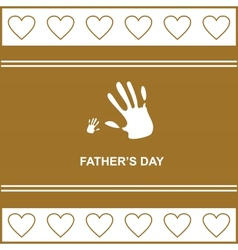 gift card on fathers day with kids and fathers vector image vector image