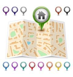 map icon Map markers vector image