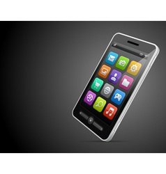 Mobile phone and icons backgroud vector image vector image