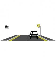 road speed camera vector image