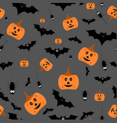 seamless halloween pattern on vector image
