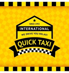 Taxi symbol with checkered background - 12 vector