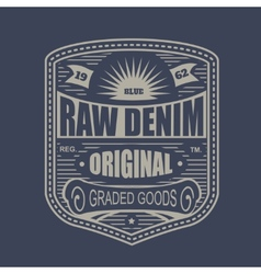 Vintage denim typography t-shirt graphics vector image