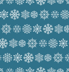 Winter seamless background with snowflakes vector image vector image