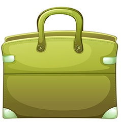 A green handbag vector