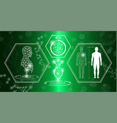 abstract background technology concept in green vector image