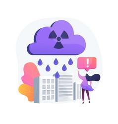 Acid rain abstract concept vector