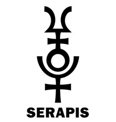 Astrology serapis hellenistic graeco-egyptian vector
