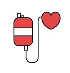 Blood bag donated isolated icon vector