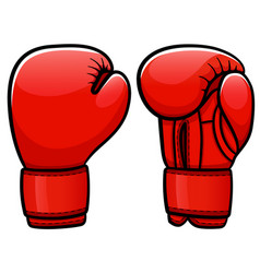 Boxing gloves cartoon isolated vector