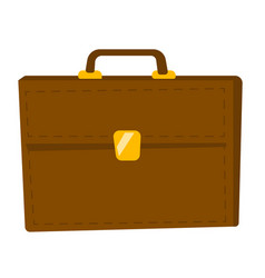 brown briefcase cartoon vector image