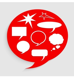 Bubble talk vector image