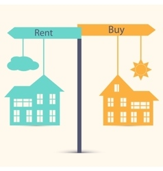 Buy or Rent vector image