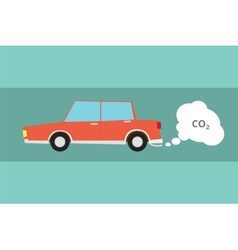 car carbon dioxide co2 pollution vector image