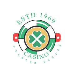 casino logo premium design colorful vintage vector image vector image
