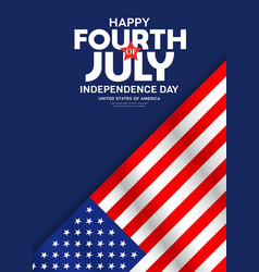 Celebration flag america fourth july poster vector