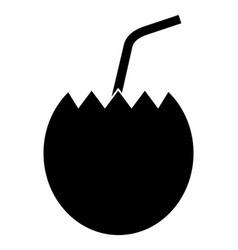 coconut dark silhouette vector image
