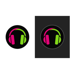 colorful modern logo for music club vector image