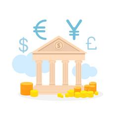 currency exchange service flat vector image