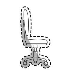 Desk chair icon vector