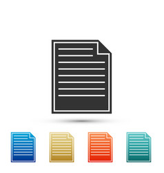 document icon on white background checklist icon vector image