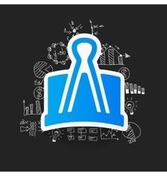 Drawing business formulas clip vector