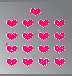 Emoticons heart color 18 vector