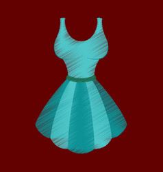 Flat shading style icon fluffy dress vector