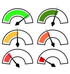 gauges meters vector image