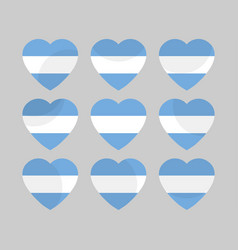heart with the flag of argentina i love argentina vector image