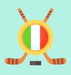 Hockey in Italy vector image