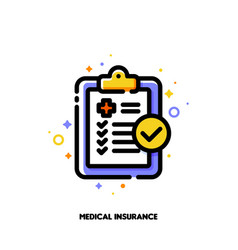 icon of medical form list with results data vector image