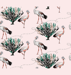 large bird patter savannah design grey crowded vector image
