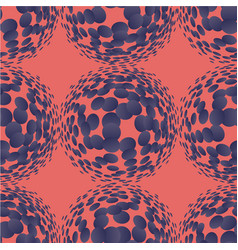Living coral halftone circles seamless pattern vector