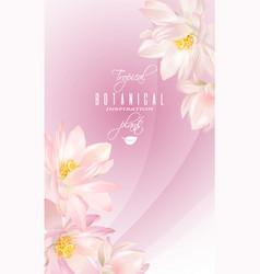lotus flower banner vector image