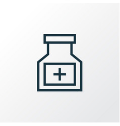 Medicament outline symbol premium quality vector