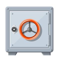 metallic safe box with closed door for money vector image
