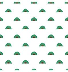 Mine in mountain pattern cartoon style vector