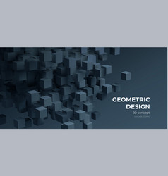 modern digital geometric cube abstract background vector image