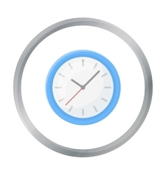 Office clock icon in cartoon style isolated on vector
