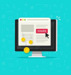 Per pay click or cost per click technology flat vector