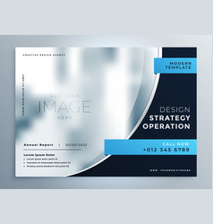 professional blue business brochure presentation vector image