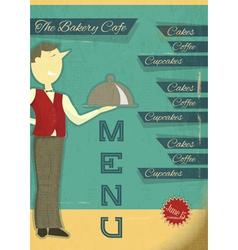 Retro Waiter vector image