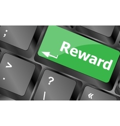 Rewards keyboard keys showing payoff or roi vector