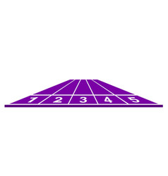 running track in purple design vector image